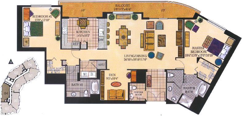 Watergarden Floor Plan Quot Penthouse Iv Quot